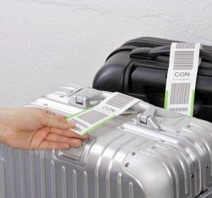 Selbstklebende Schlaufenanhänger für Gepäckstücke